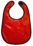 red metal bib