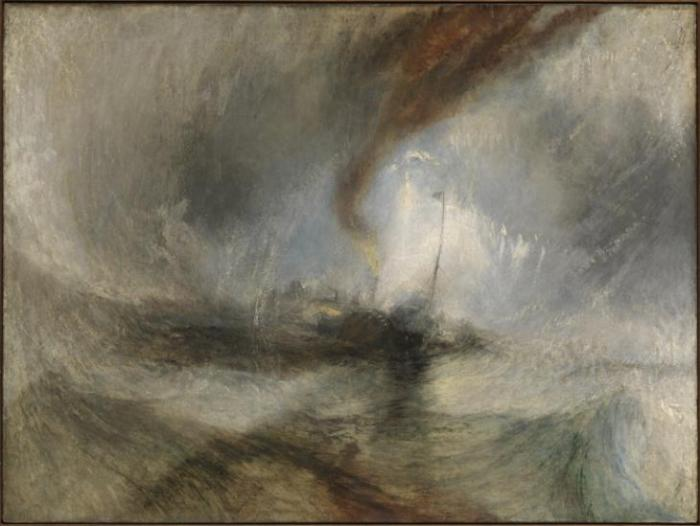 Snow Storm - Steam-Boat off a Harbour's Mouth exhibited 1842 Joseph Mallord William Turner